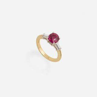 Tiffany & Co., Diamond and ruby ring