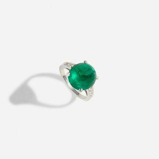 Tiffany & Co., Emerald and diamond ring