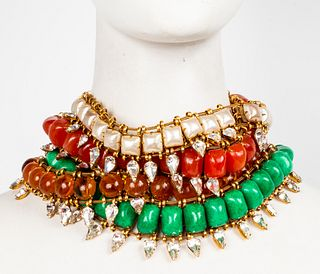 Iradj Moini Multi-Strand Faux Gemstone Necklace
