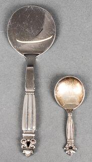 "Georg Jensen ""Acorn"" Silver Serving Pieces, 2"