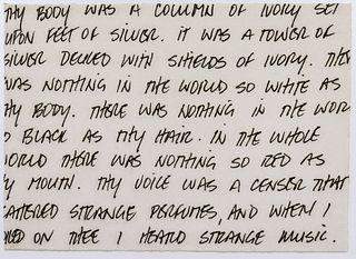 Felix Gonzalez-Torres Untitled (Oscar Wilde) Print