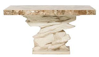 "Emilio Terry Modern ""Ledge Rock"" Console Table"