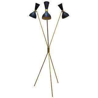 Italian Modern Stilnovo Style Tripod Floor Lamp