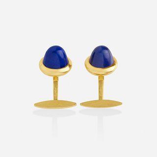 Cartier, Lapis lazuli and gold cufflinks