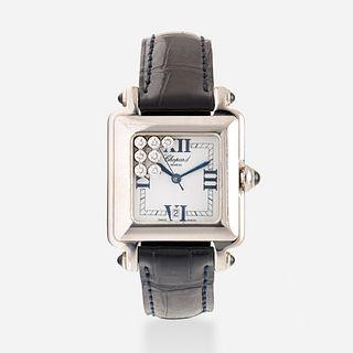 Chopard, 'Happy Sport' stainless steel and diamond wristwatch, Ref. 27/8325-23