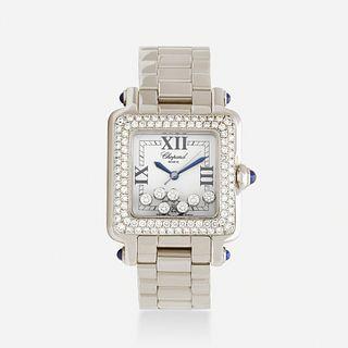 Chopard, 'Happy Sport' diamond and stainless wristwatch, Ref. 27/8358-23