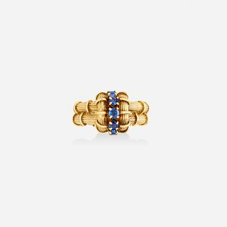 Tiffany & Co., Gold and sapphire ring