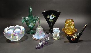 Fenton, 8 Boxed Signed and Hand Painted Glass Items