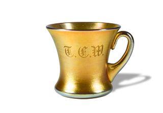 L. C. Tiffany Gold Favrile Cup