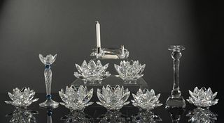 Swarovski, 10 Boxed Crystal Candlesticks and Holders