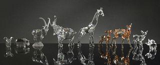 Swarovski, 8 Boxed Crystal Animals