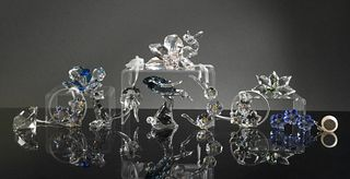 Swarovski, 11 Boxed Assorted SCS Crystal Items