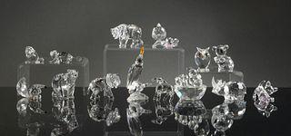 Swarovski, 14 Boxed Crystal Miniature Animals