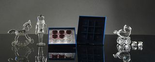 Swarovski, 5 Boxed Crystal Toy Figures
