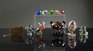 Swarovski, 6 Boxed Crystal Pieces