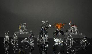 Swarovski, 9 Boxed Crystal Figures, inc. Dogs