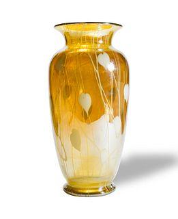 Victor Durand Iridescent Leaf and Vine Vase