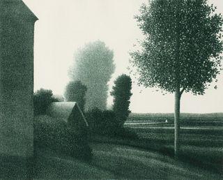 ROBERT KIPNISS (BORN 1931) PENCIL SIGNED LITHOGRAPH