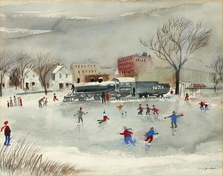 ARVID JACOBSON (1908-1989) WATERCOLOR ON PAPER