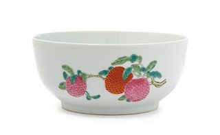 A Famille Rose Porcelain Bowl Diameter 6 inches.