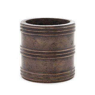 A Bronze Censer Diameter 3 1/8 inches.