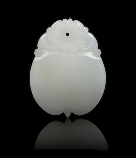 A White Jade Toggle Height 2 inches.