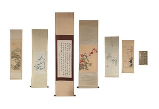 6 Chinese Scrolls and 1 Book