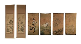 Group of 6 Chinese Paintings