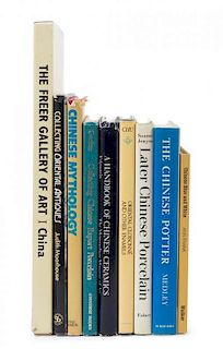 * A Group of Nine Reference Books Pertaining to Chinese Ceramics, Chinese Mythology, and Collecting Asian Works of Art