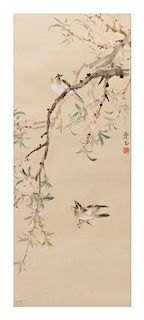 * Zhao Chongzheng, (1910-1968), Bird Perched on Flowering Branch