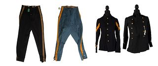 4 Military Costume Pieces, 19th and Early 20th Century