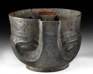 Persian Achaemenid Copper Bowl Helmet Form