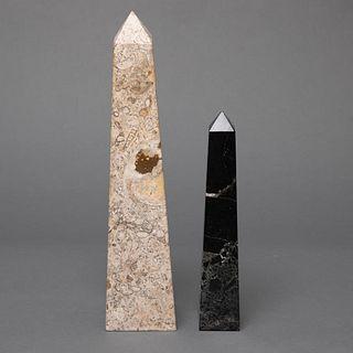 Pair of Stone Obelisks