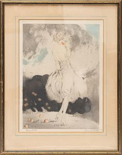 Forbidden Fruit,etching by Louis Icart, c.1929