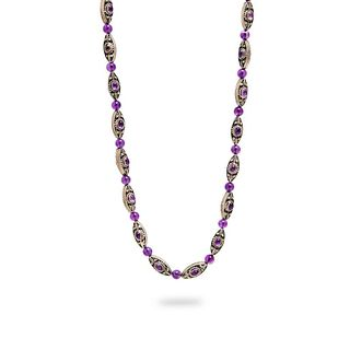 GIA Georg Jensen Style Silver and Amethyst necklace