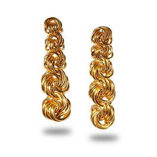 14K Knot Design Earrings