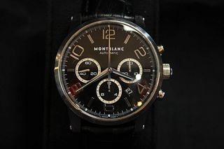 Montblanc Auto Mechanical Steel Watch with Timer, Back through