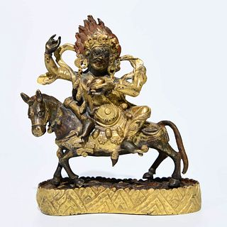 A Bronze Statue Of Palden Lhamo