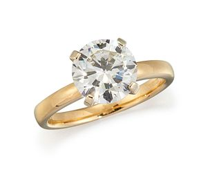 AN 18CT DIAMOND SOLITAIRE RING, the round brilliant cut dia