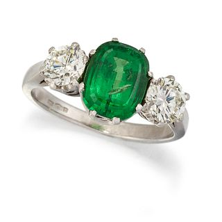 A PLATINUM CERTIFIED NATURAL DEMANTOID GARNET AND DIAMOND R