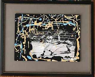 Robert Rauschenberg Rare Baseball Collage