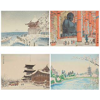 Grp: 4 Eiichi Kotozuka Japanese Woodblock Prints