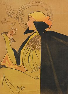 Jane Atche Art Nouveau Cigarettes Poster JOB