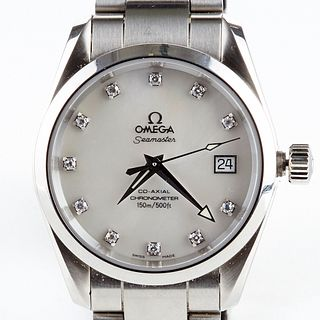 Omega Seamaster Aquaterra MOP Dial Diamond Watch