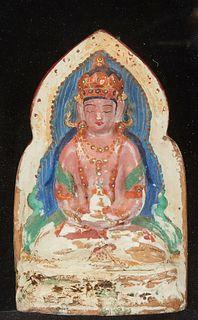 18th c. Chinese Tibetan Ceramic Buddha