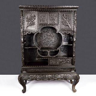Japanese Export Curio Shodhana Cabinet