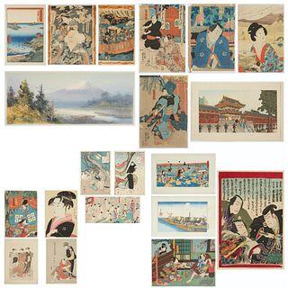 Grp: 20 Japanese Woodblock Prints Hiroshige Yoshitoshi