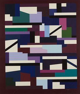 Yaacov Agam Abstract Silkscreen