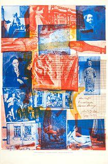 """Robert Rauschenberg """"Centennial Certificate"""" Met Exhibition Poster 1970"""