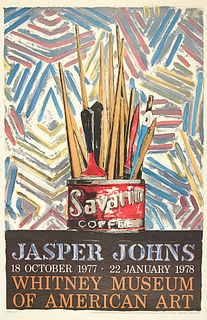 Jasper Johns Savarin Whitney Exhibition Poster 1977-78